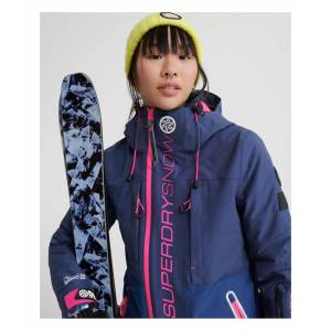 Superdry Womens Slalom Slice Ski Jacket - Navy - Size 6