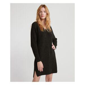 Superdry Marissa V-Neck Knit Dress  - Khaki - Size: 10