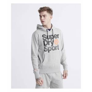 Superdry Core Sport Overhead Hoodie  - Grey - Size: 2X-Large