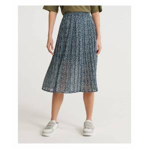 Superdry Summer Pleated Skirt  - Navy - Size: 6