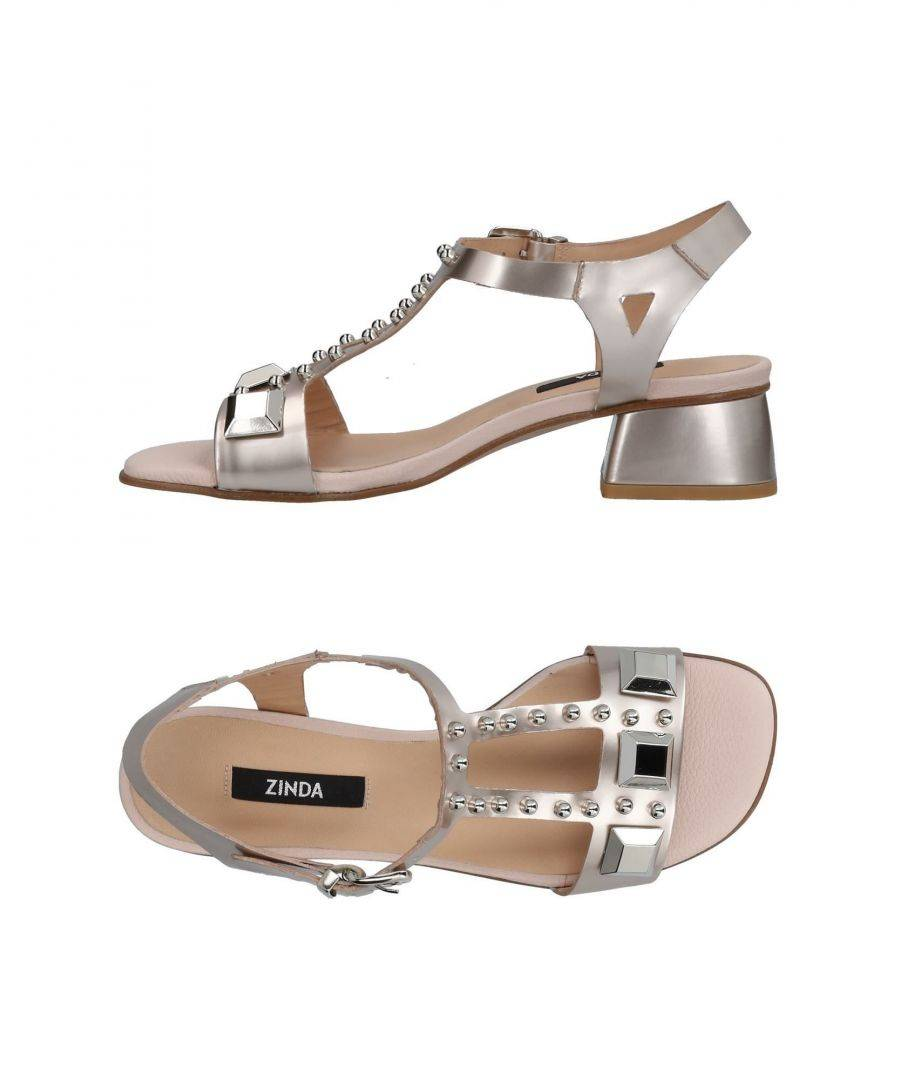 Zinda Pale Pink Leather Sandals  - Pink - Size: 4