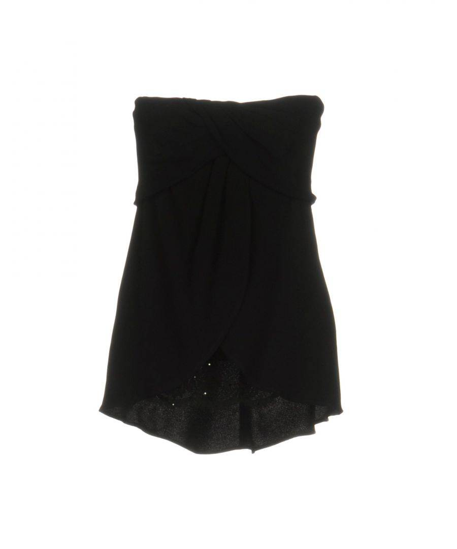Vdp Collection Womens TOPWEAR Woman Black - Size 10