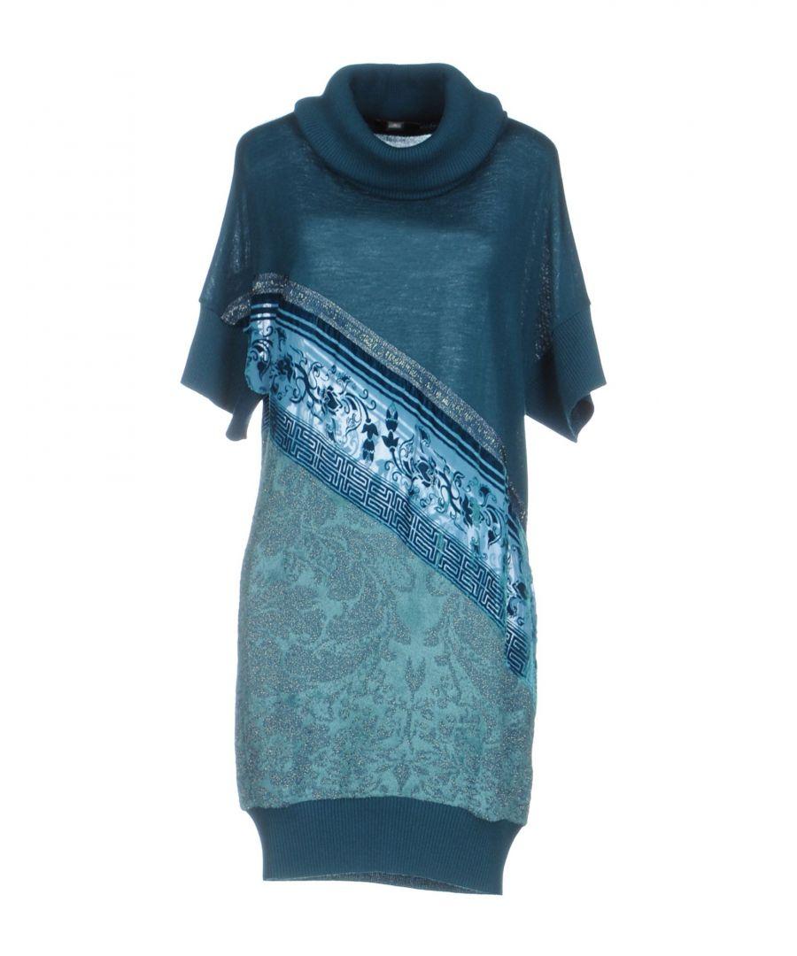 Cavalli Class Deep Jade Wool Knit Dress  - Green - Size: 10