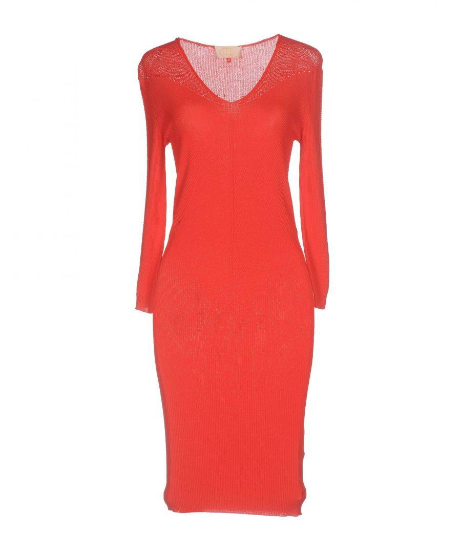Vdp Collection Womens DRESSES Rust Woman Viscose - Size 8