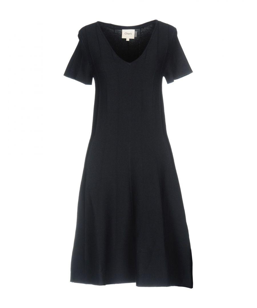 Charli DRESSES Dark blue Woman Viscose  - Blue - Size: Small