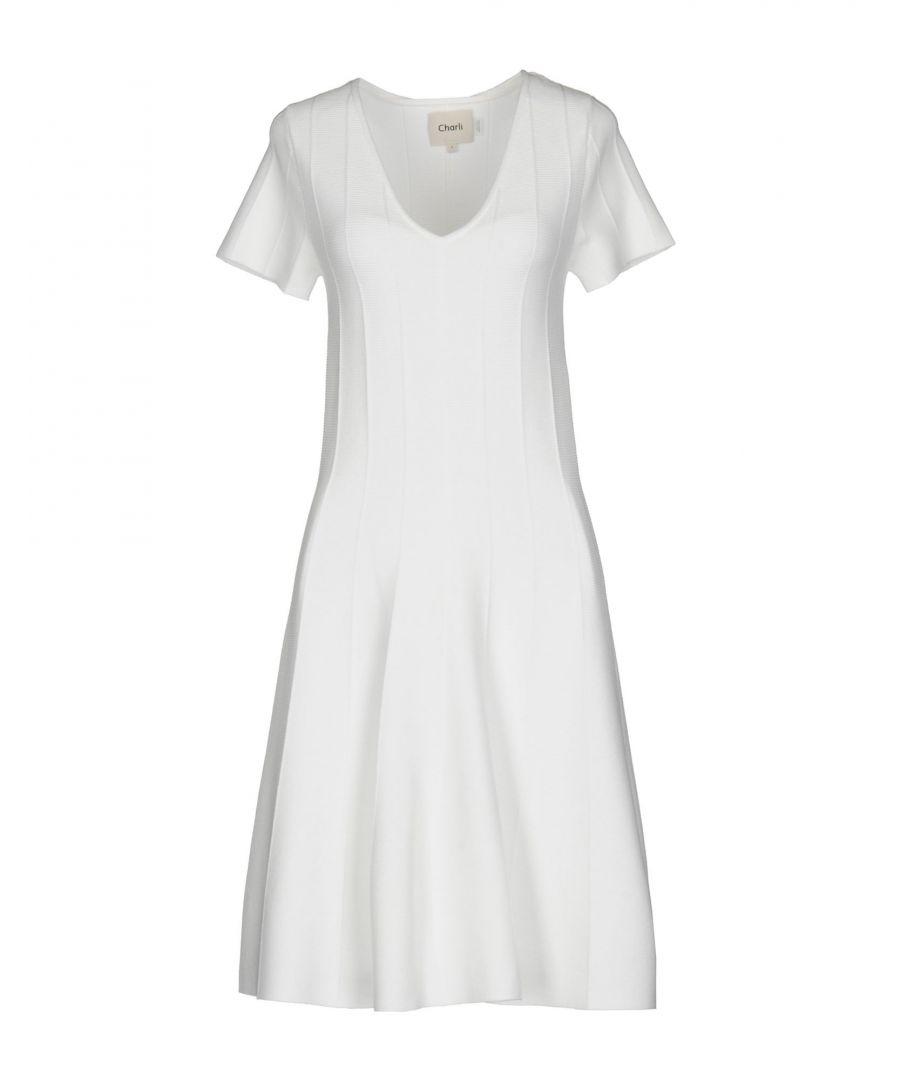 Charli DRESSES White Woman Viscose  - White - Size: Medium