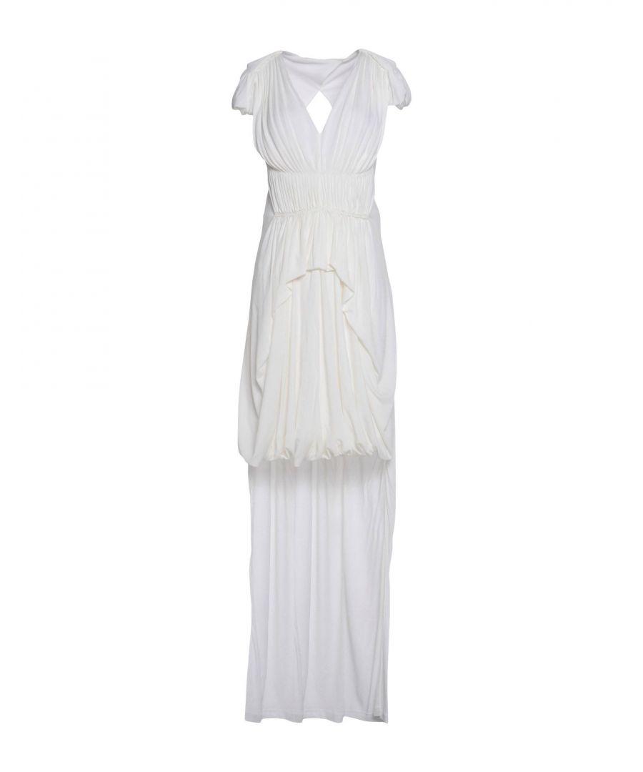 Sophia Kokosalaki White Full Length Dress  - White - Size: 8