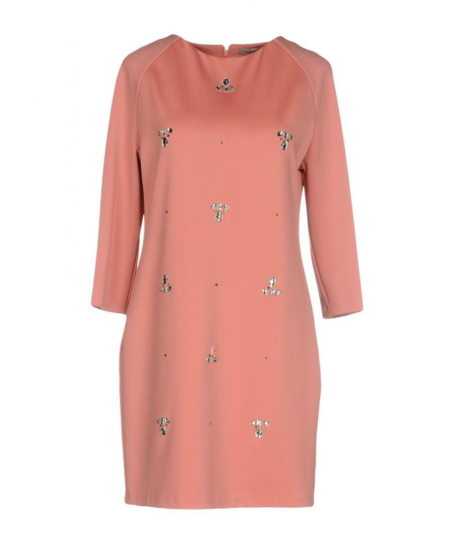 Betty Blue Womens Pink Embellished Long Sleeve Dress - Size 10