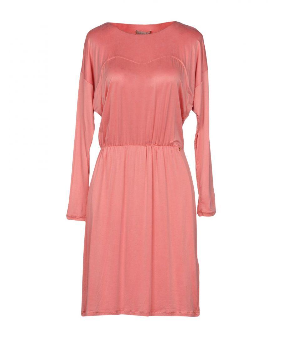 Betty Blue Womens DRESSES Woman Pink Cupro - Size 10