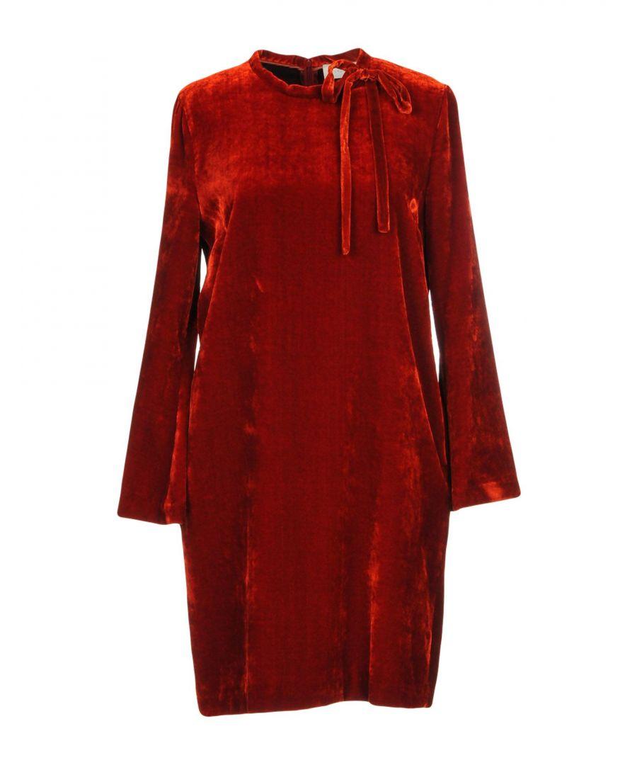 L' Autre Chose Womens Woman Short dresses Red Viscose - Size 14