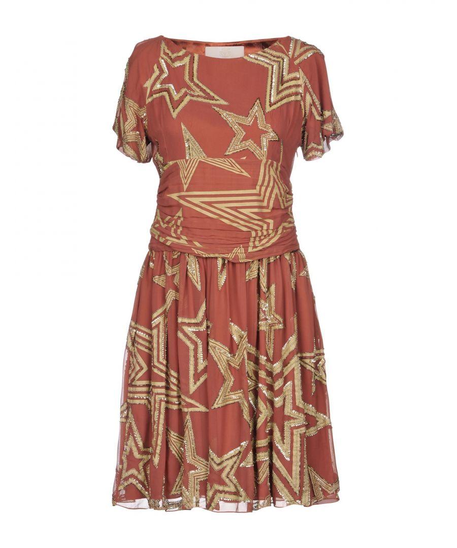 Betty Blue Womens DRESSES Woman Brick red - Size 10
