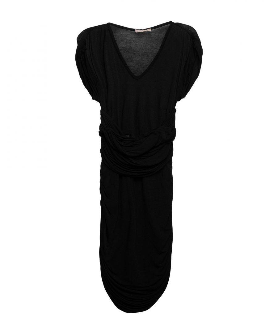 Betty Blue Womens DRESSES Woman Black Viscose - Size 8