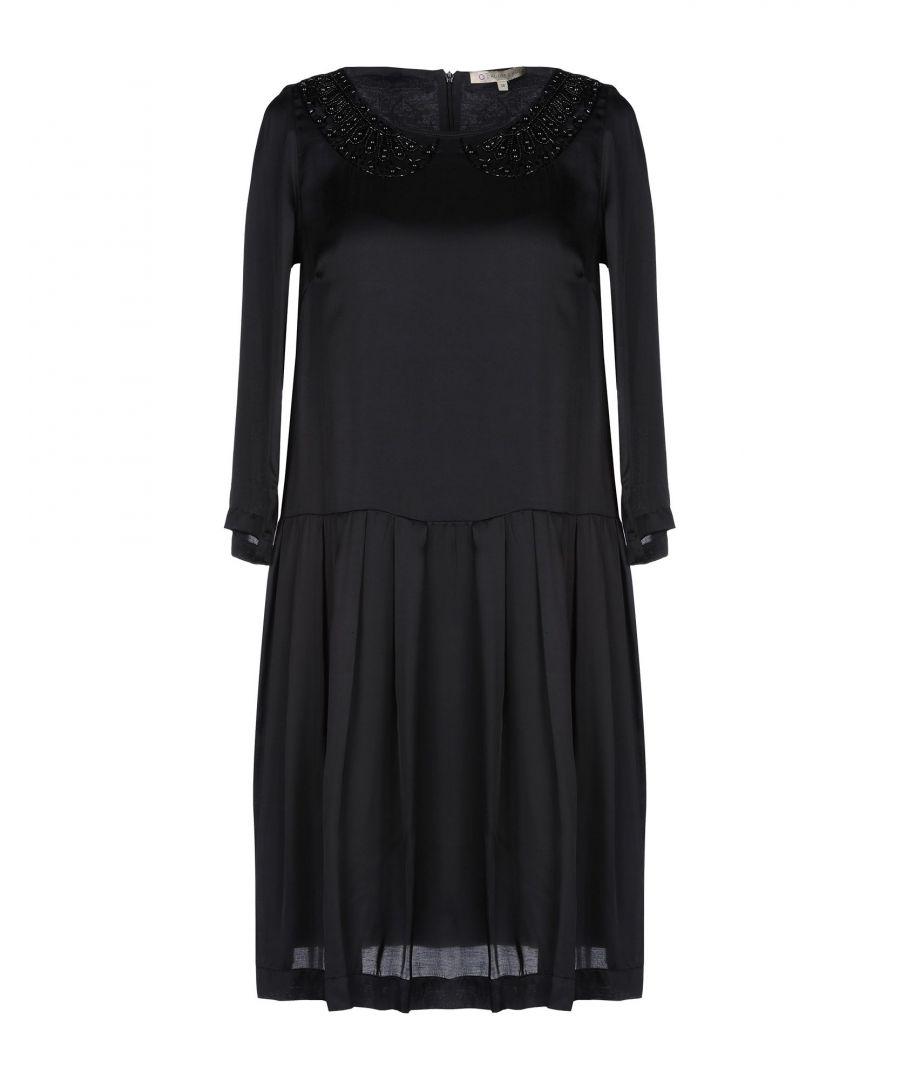L' Autre Chose Womens DRESSES Woman Black Viscose - Size 6
