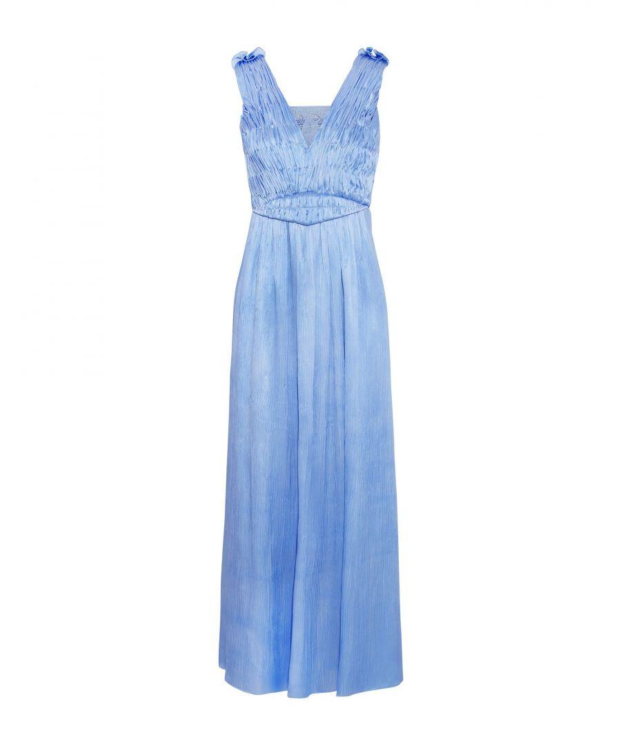 Sophia Kokosalaki Womens DRESSES Woman Azure Viscose - Blue - Size 10