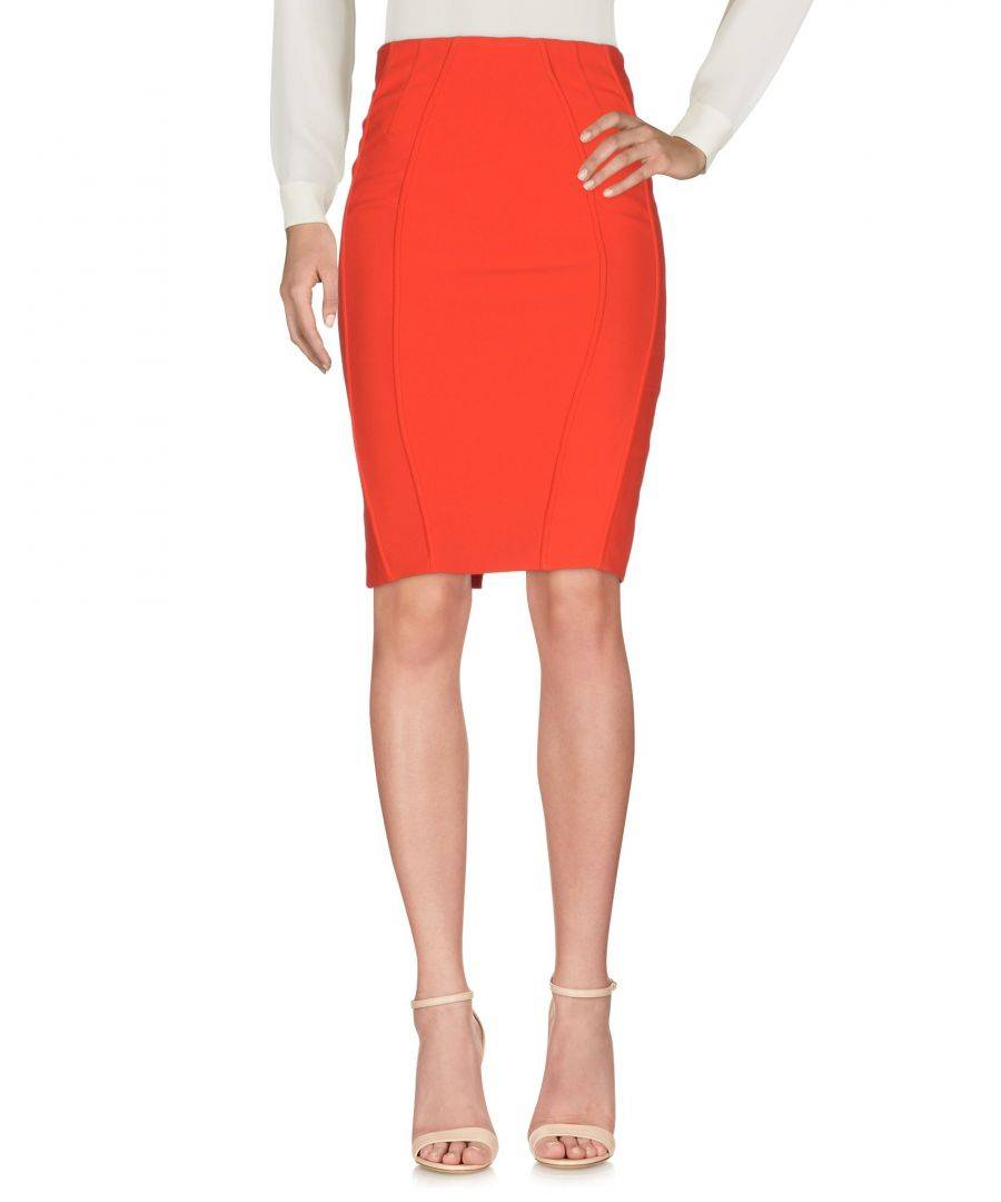 Betty Blue Red Crepe Skirt  - Red - Size: 10