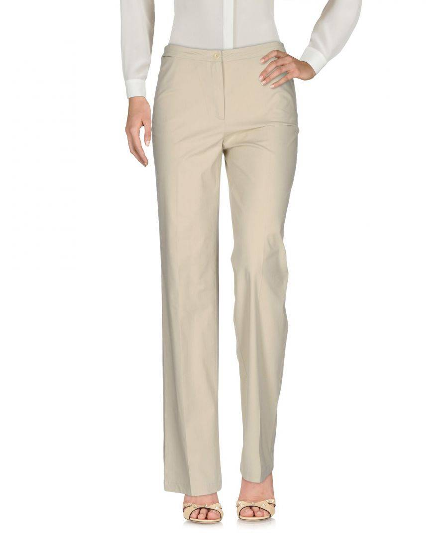 Jeans Les Copains Beige Cotton Straight Leg Trousers  - Beige - Size: 10