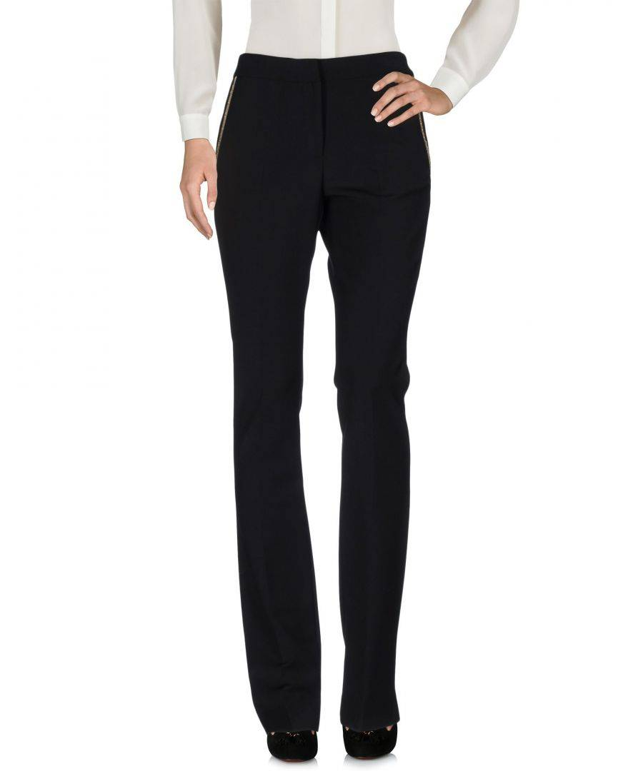 Vdp Collection Womens TROUSERS Woman Black Viscose - Size 10