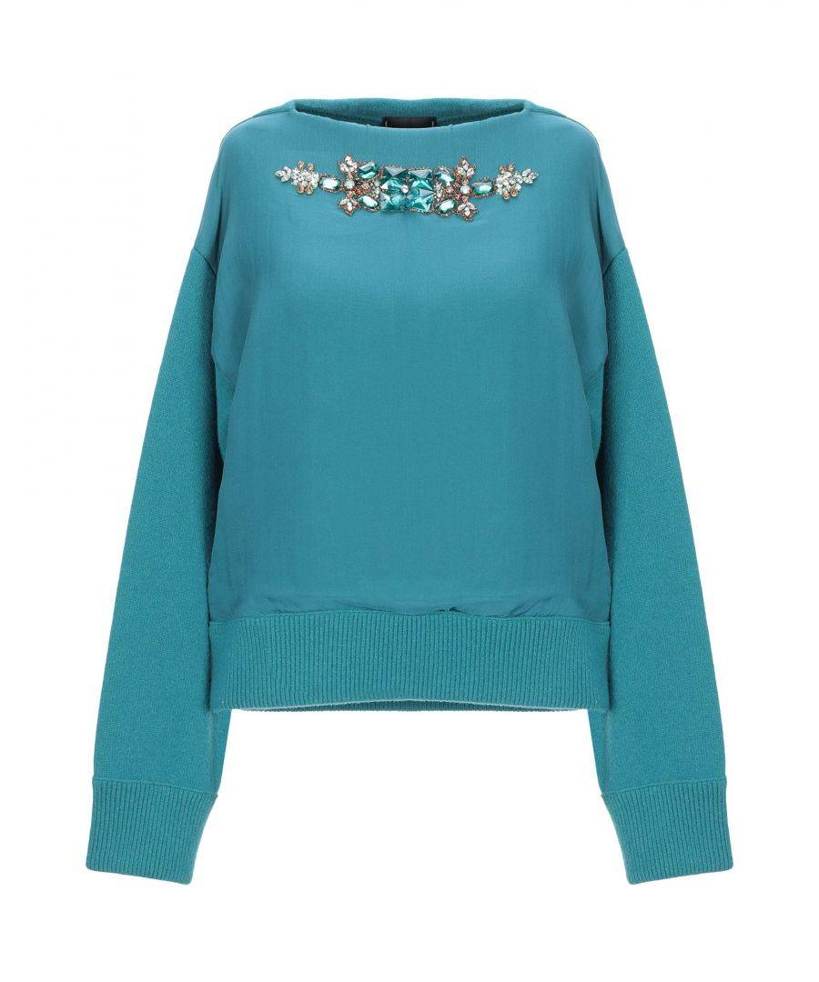 Dsquared2 Deep Jade Wool Embellished Jumper  - Green - Size: Small