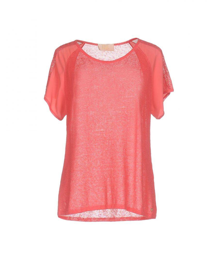 Vdp Collection Womens KNITWEAR Coral Woman Linen - Size 10
