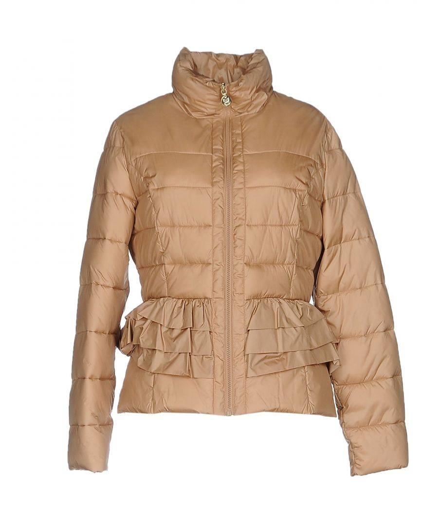Betty Blue Sand Techno Fabric Quilted Jacket  - Sand - Size: 14