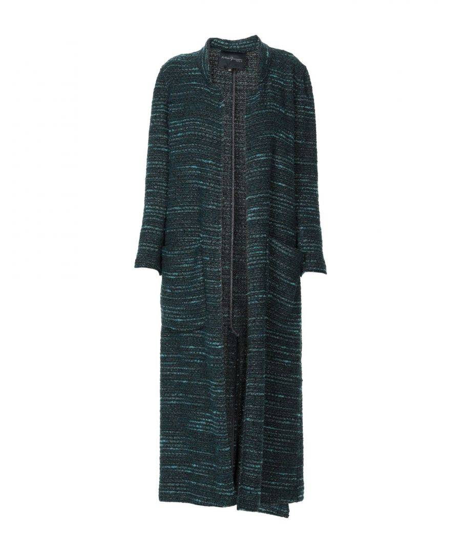 Katia Giannini COATS & JACKETS Woman Deep jade Acrilyc  - Green - Size: 10
