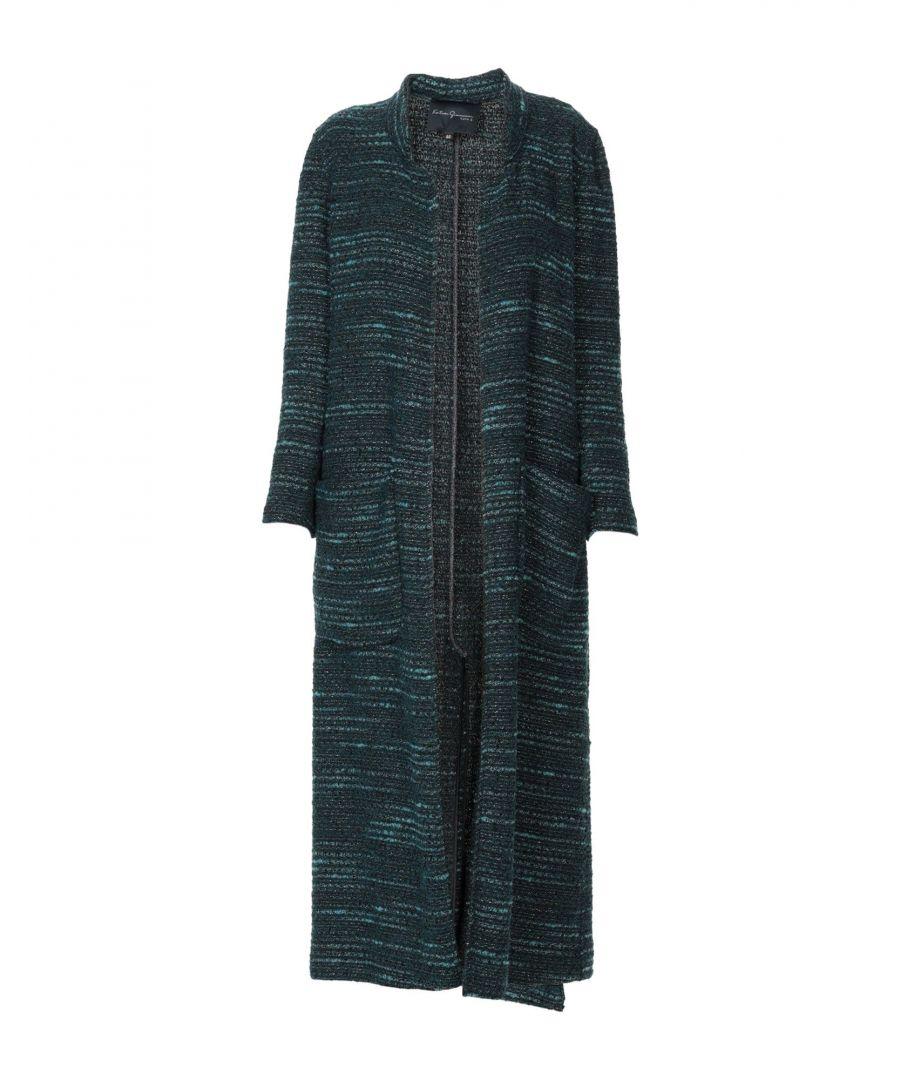 Katia Giannini COATS & JACKETS Woman Deep jade Acrilyc  - Green - Size: 8