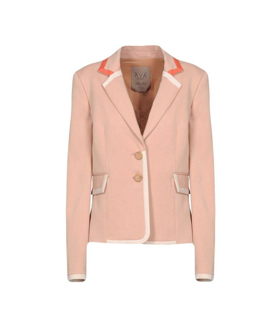 Betty Blue Pink Single Breasted Jacket  - Pink - Size: 14
