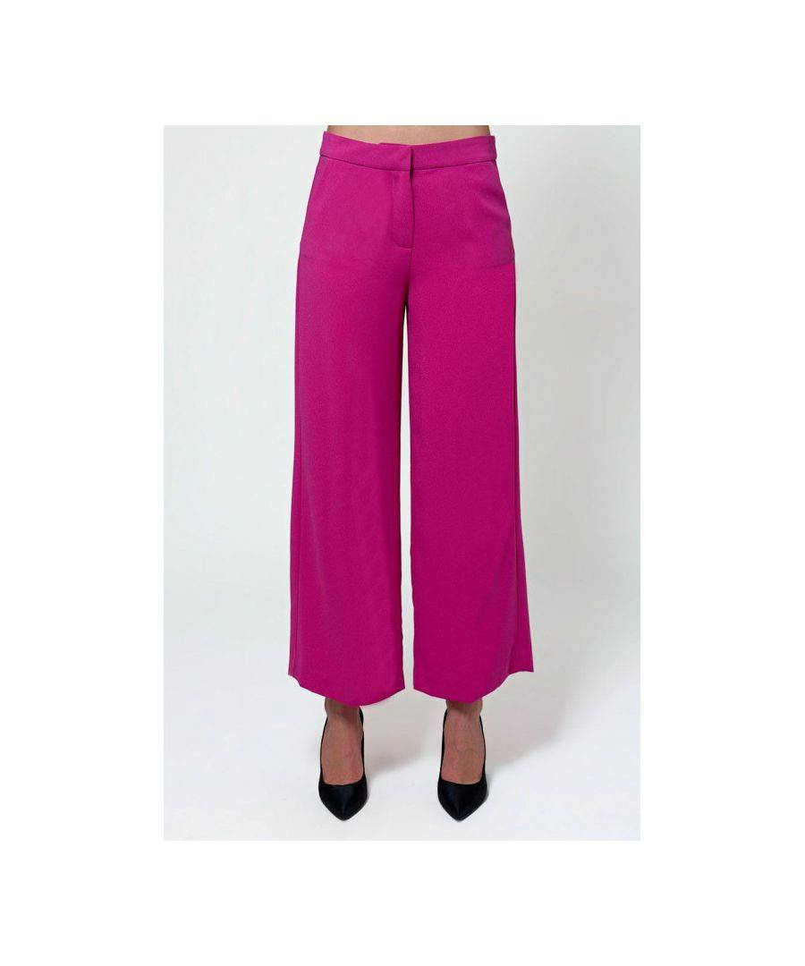 Javier Larrainzar Collection Palazzo Trousers  - Violet - Size: 40