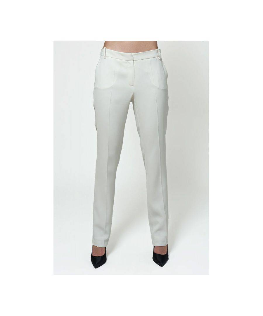 Javier Larrainzar Collection Straight Leg Trousers  - White - Size: 40