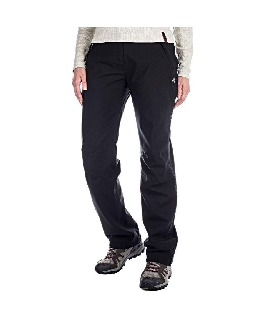 Craghoppers Womens Aysgarth Waterproof Walking Trousers  - Black - Size: 20