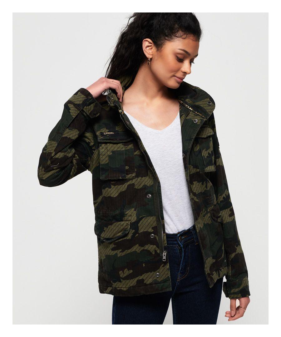 Superdry Jade Rookie Pocket Jacket  - Green - Size: 12