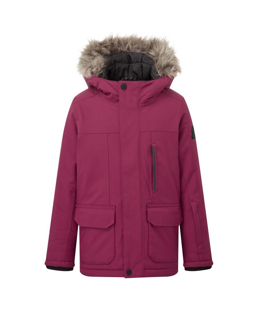 TOG24 Childrens Unisex Duggan Kids Waterproof Jacket Raspberry - Pink - Size 5-6Y