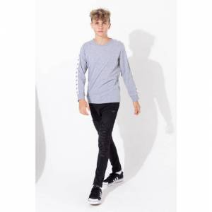 Hype Grey Tape Kids L/S T-Shirt  - Grey - Size: 15-16Y