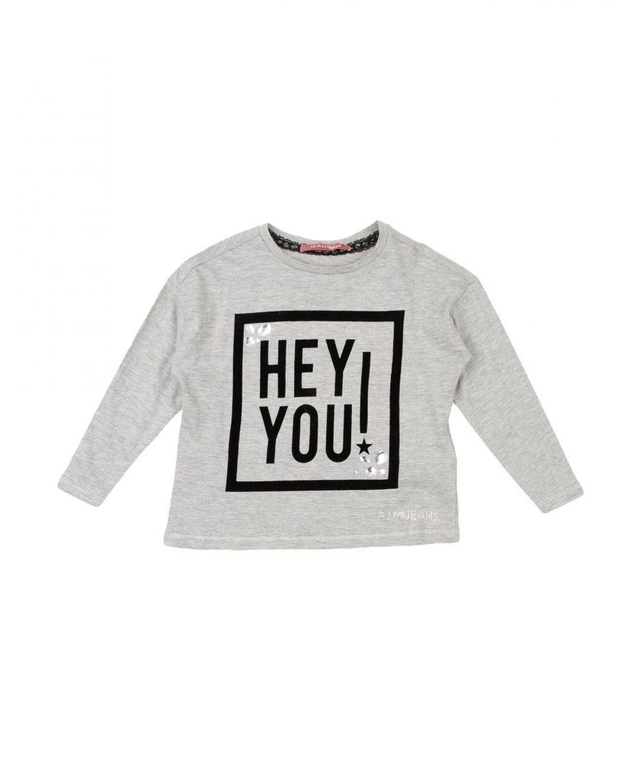 Gaudì Girls TOPWEAR Grey Girl Cotton - Size 5-6Y