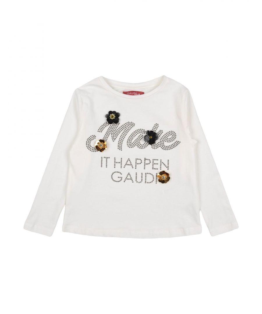 Gaudì Girls TOPWEAR White Girl Cotton - Size 2-3Y