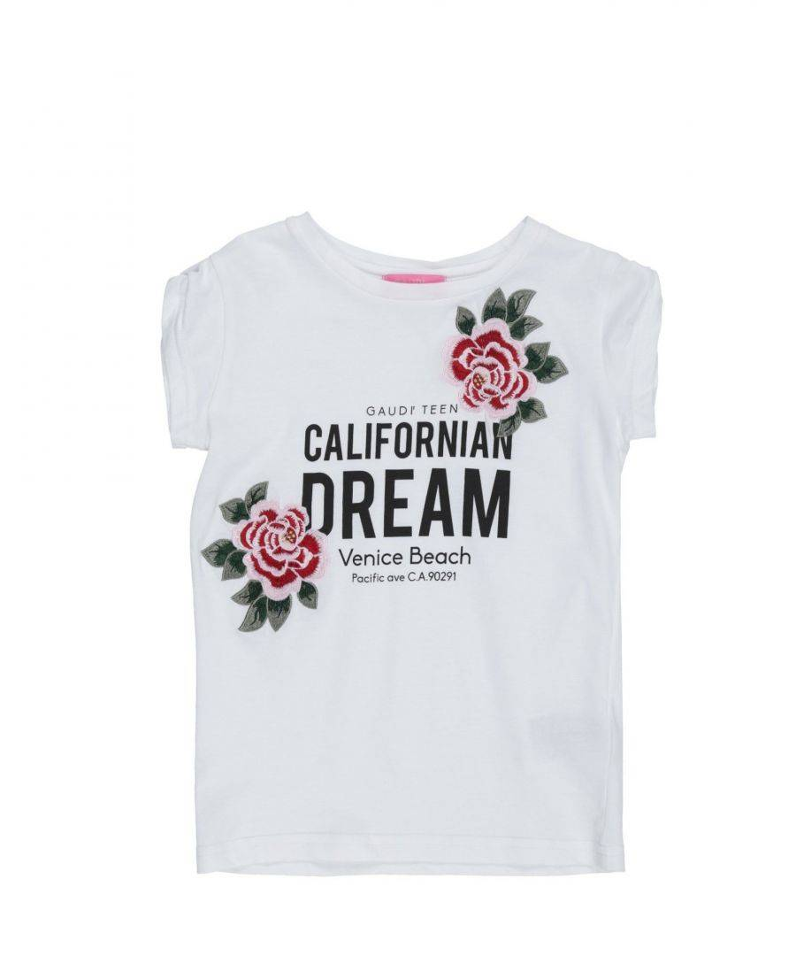 Gaudì Girls TOPWEAR White Girl Cotton - Size 7-8Y