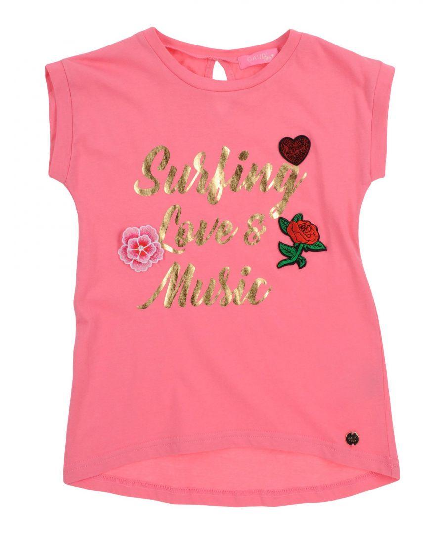 Gaudì Girls TOPWEAR Fuchsia Girl Cotton - Size 3-4Y