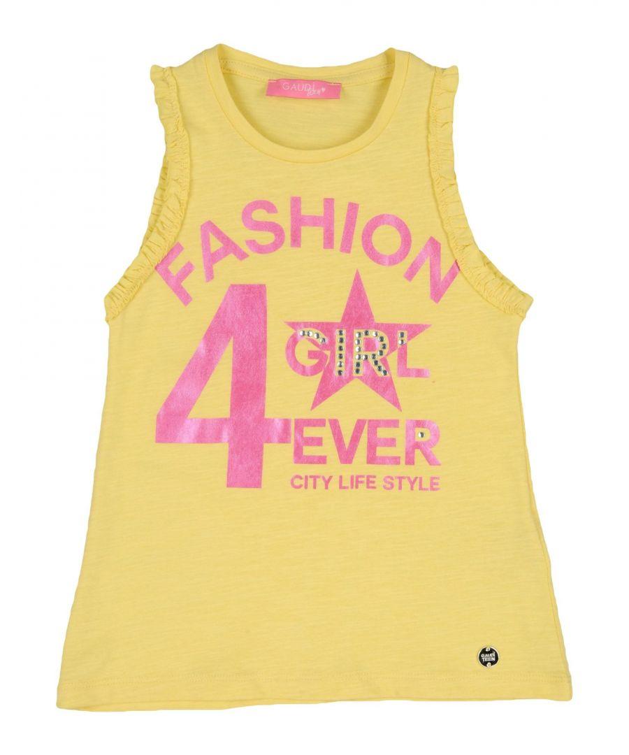 Gaudì Girls TOPWEAR Gaud� Yellow Girl Cotton - Size 4-5Y