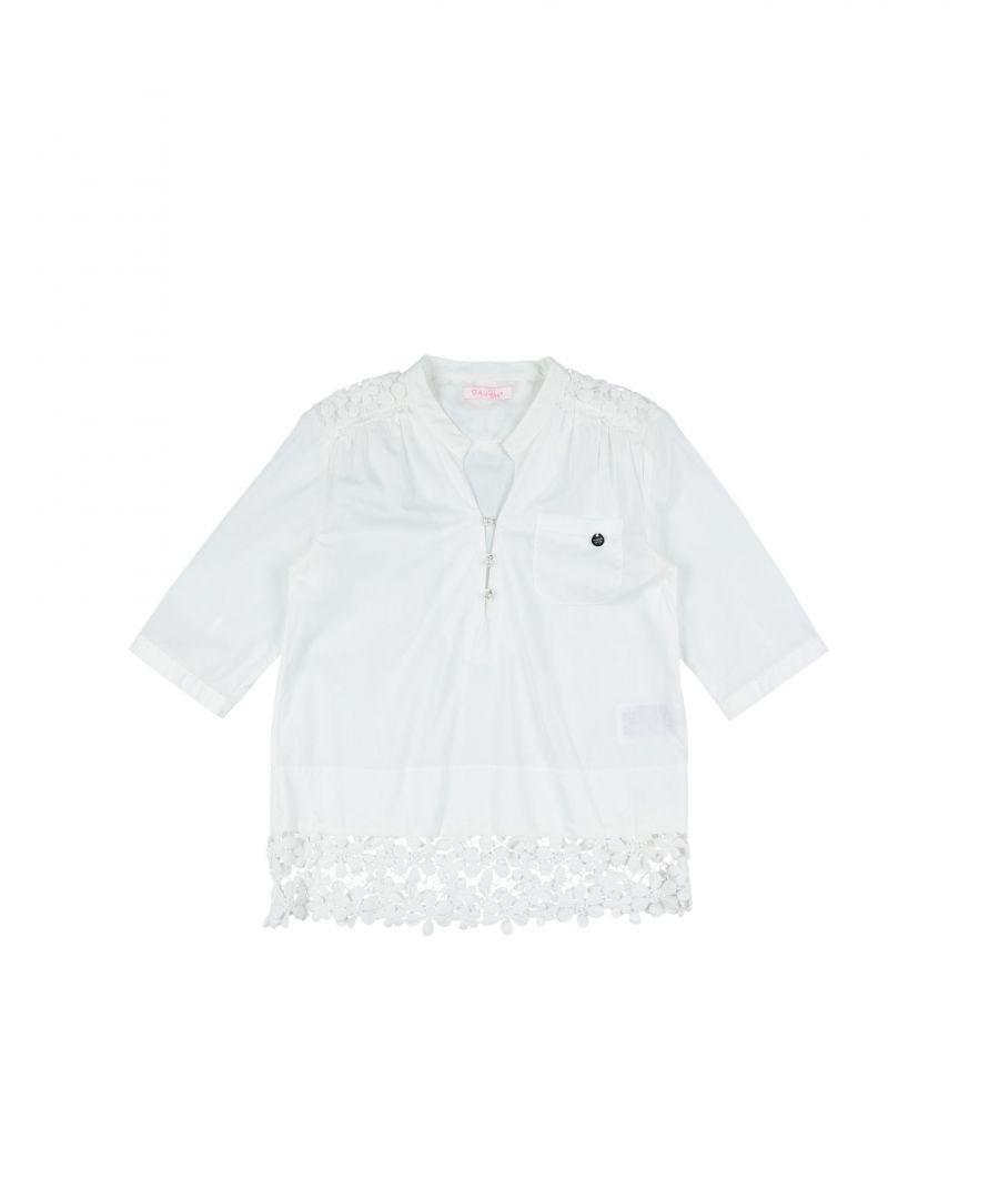 Gaudì Girls SHIRTS White Girl Cotton - Size 7-8Y