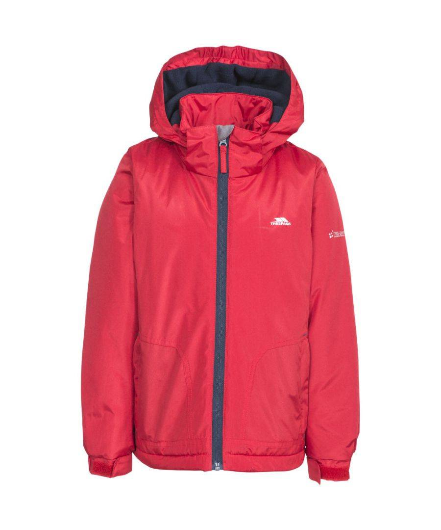 Trespass Boys Rudi Waterproof Hooded Walking Jacket Coat  - Red - Size: 5