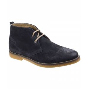 Base London Perry Burnished Leather  - Navy - Size: 7