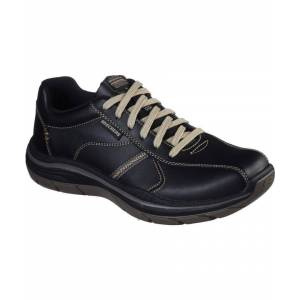 Skechers Mens Expected 2.0 Belfair Lace Up Leather Shoes  - Black - Size: 8