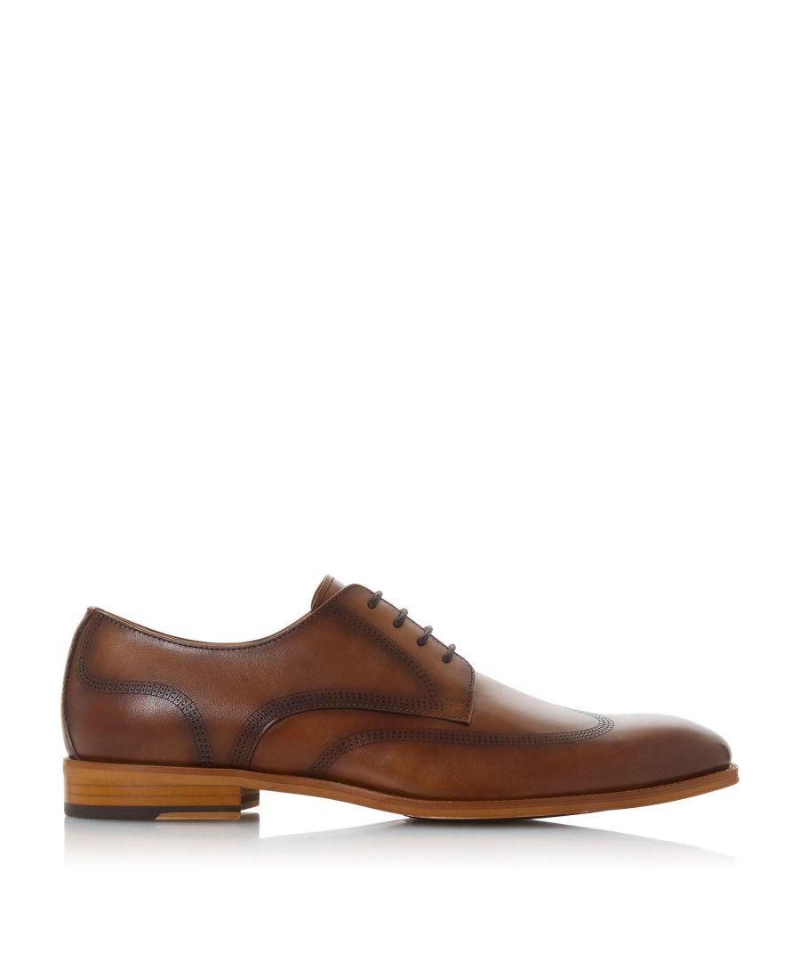 Dune London Mens SANCTUARY Smart Gibson Shoes  - Tan - Size: 6