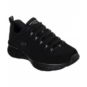 Skechers Synergy 3.0 Out & About Lace Up Sports  - Black - Size: 4