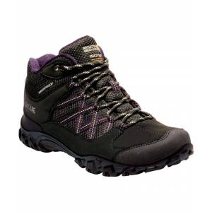 Regatta Womens Edgepoint Waterproof Fabric Walking Boots  - Black - Size: 3
