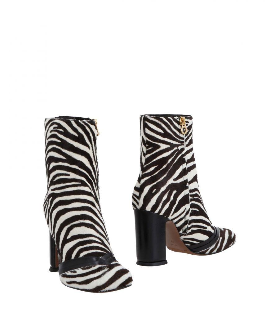 L' Autre Chose Womens Woman Ankle boots White Calf - Size 3.5