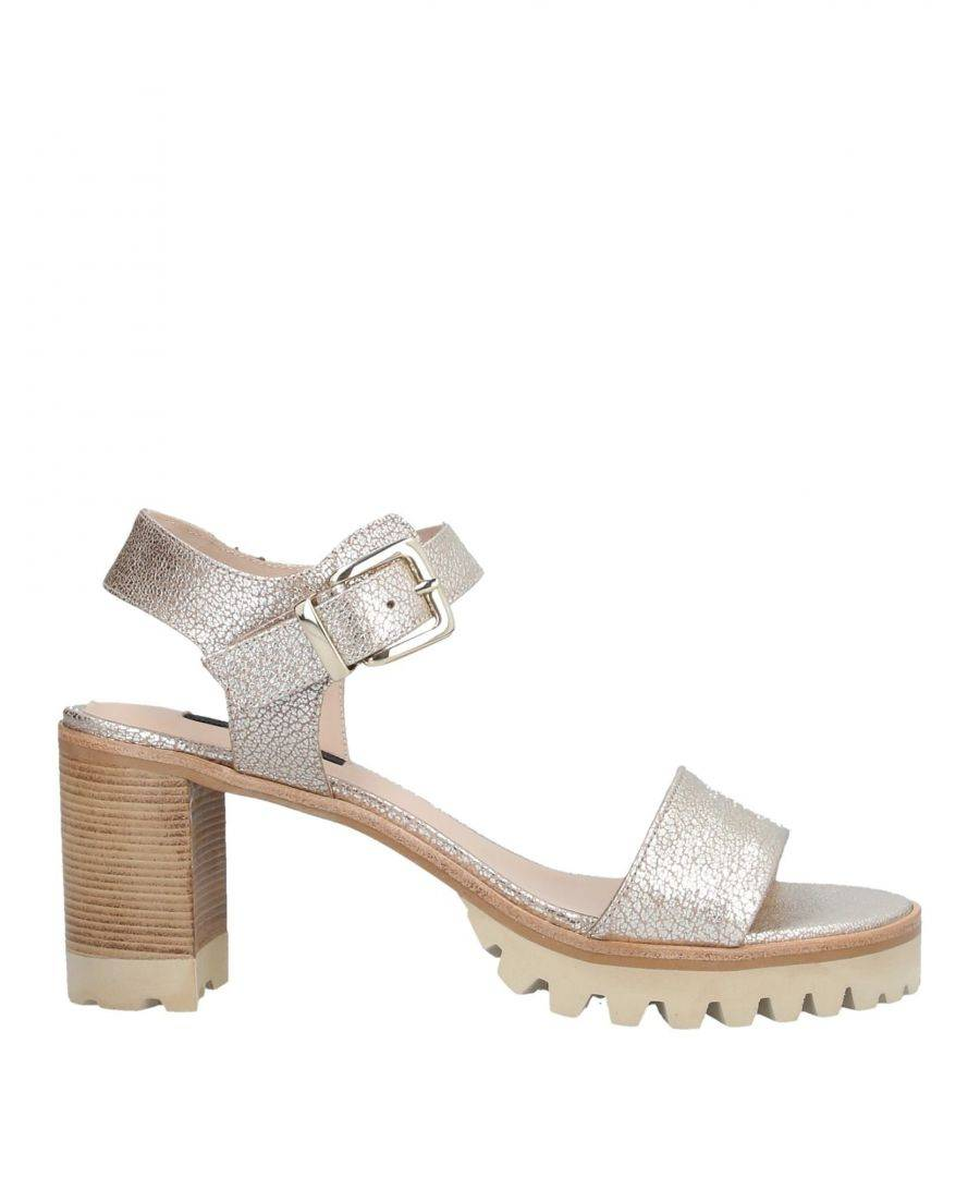 Zinda Womens Woman Sandals Platinum Leather - Size 6.5