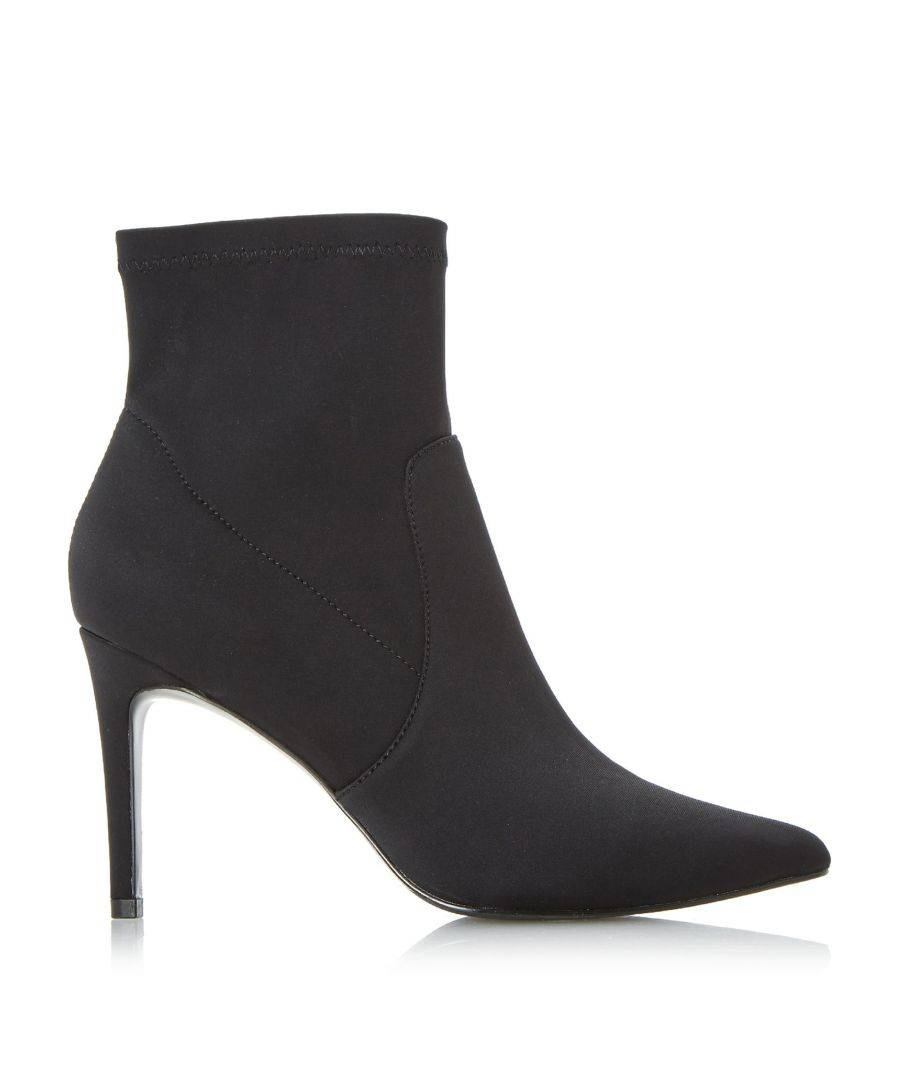 Dune London Ladies ORMAND Stretch Heel Sock Boot  - Black - Size: 7
