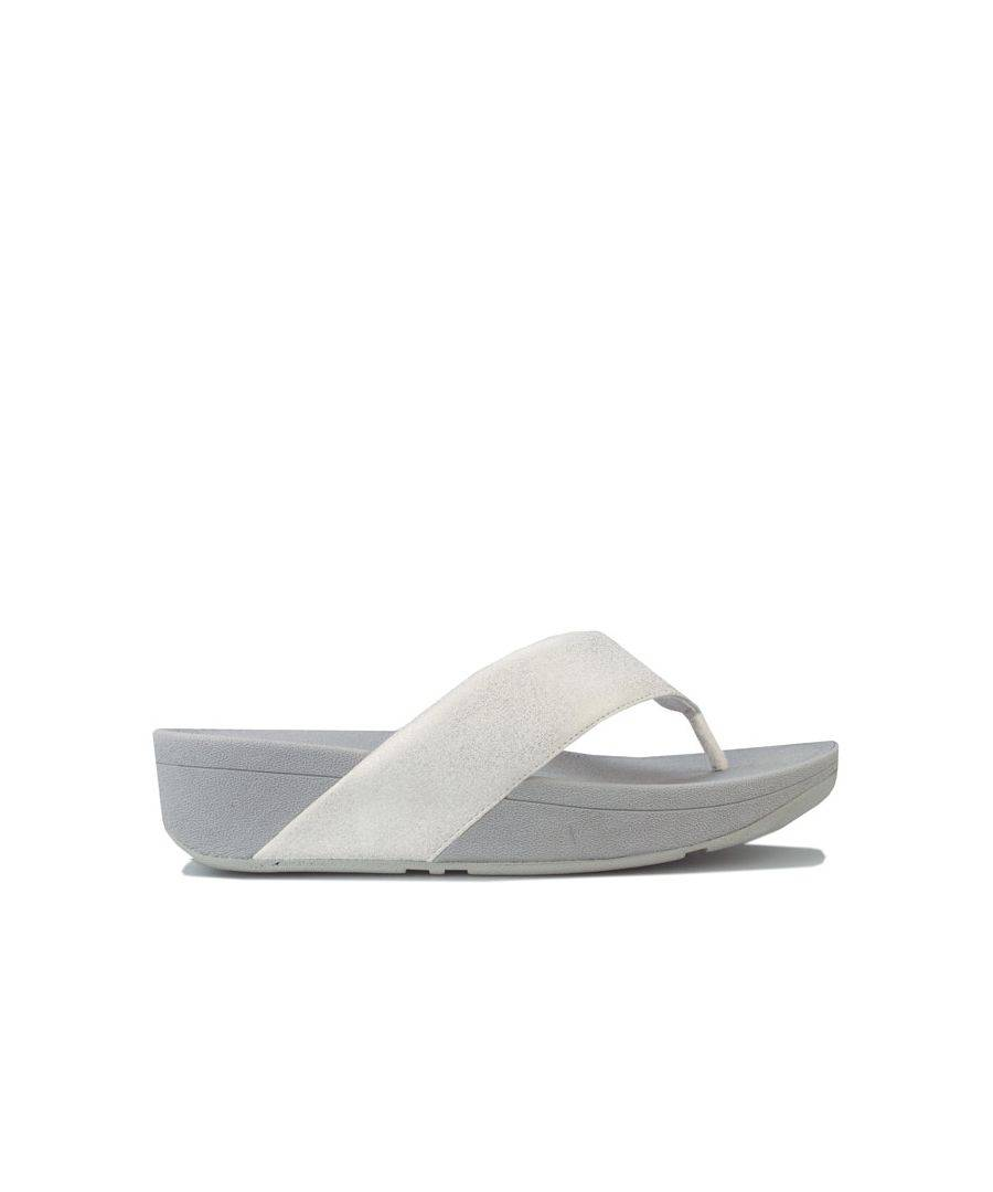 Fitflop Women's Fit Flop Demelza Shimmer Toe Thong Sandals in Silver  - Silver - Size: 6.5