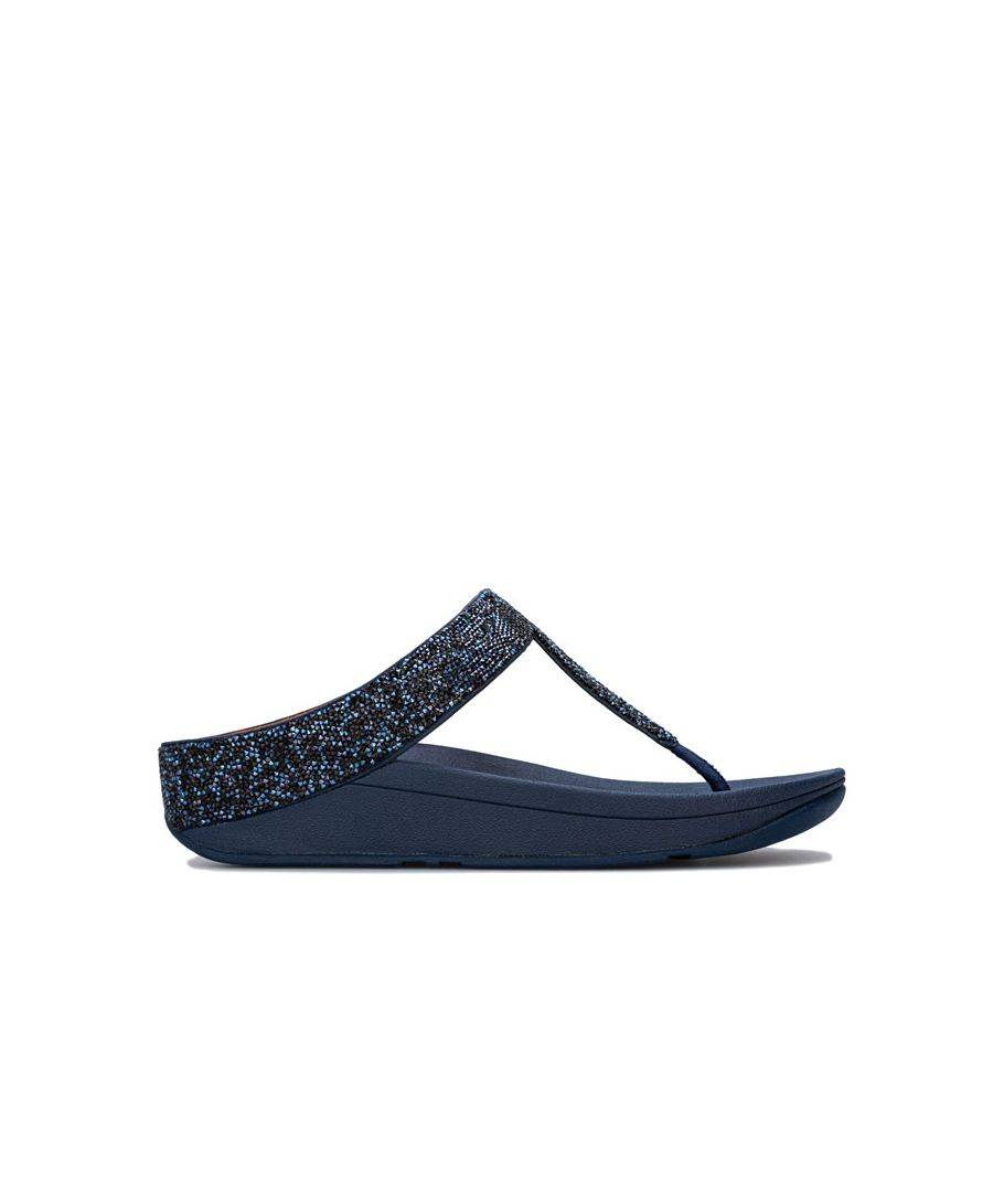 Fitflop Women's Fit Flop Fino Quartz Toe Thong Sandals in Navy  - Blue - Size: 8